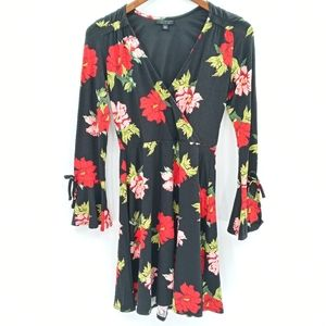 Topshop Bold Floral Print Mini Dress